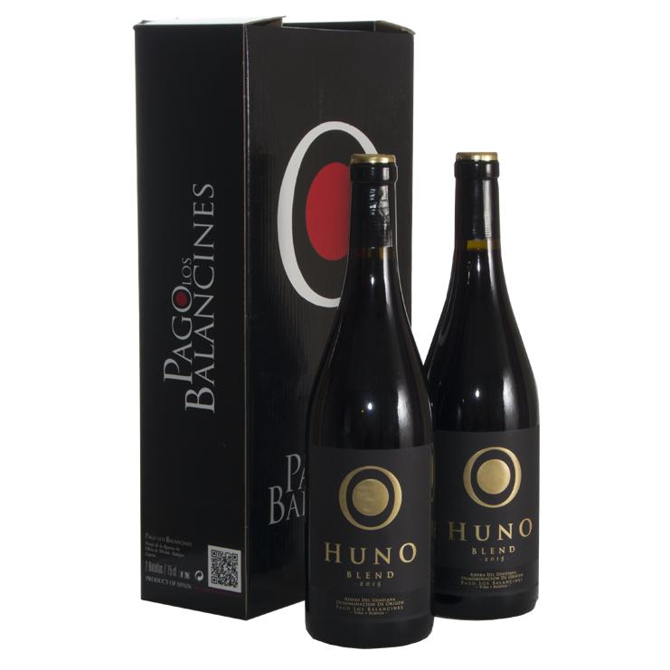 Huno Blend 2015. D.O. Rivera del Guadiana. Caja de dos Botellas de 750ml.