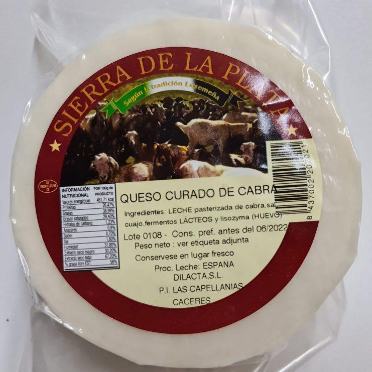 queso curado de cabra al vacio